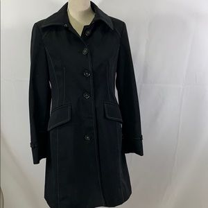 Anne Klein heavy weight black trench with pockets